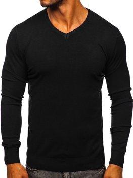 Čierny pánsky sveter s Včkom Bolf YY03