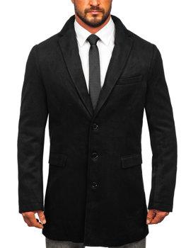 Čierny pánsky zimný kabát BOLF 1047