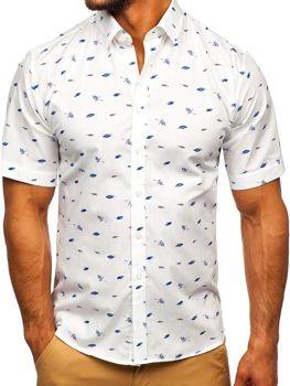 fd8dae8a00 Farebná-2 pánska vzorovaná košeľa s krátkymi rukávmi BOLF TSK101