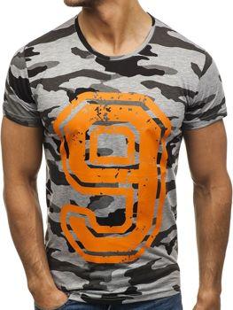 Farebné pánske tričko s potlačou BOLF 2101B