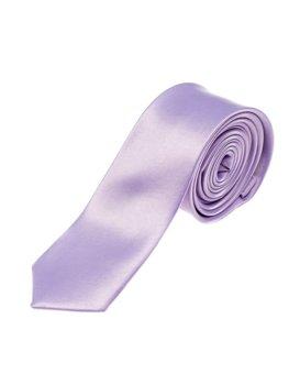 Fialová pánska elegantná kravata BOLF K001