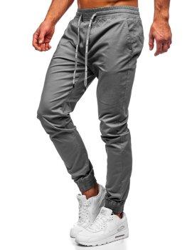 Grafitové pánske jogger nohavice Bolf KA951
