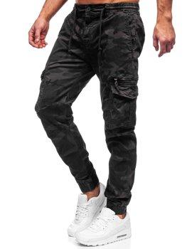 Grafitové pánske kapsáčové joggery Bolf CT6026S0