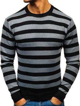 Grafitový pánsky sveter BOLF BM6129