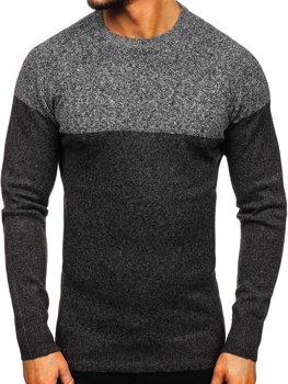 Grafitový pánsky sveter Bolf H1809