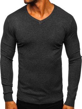 Grafitový pánsky sveter s Včkom Bolf YY03