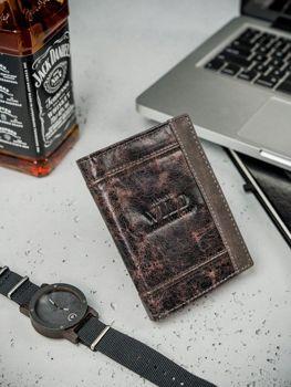 Hnedá pánska kožená peňaženka 3163