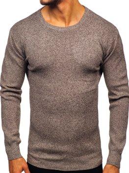 Hnedý pánsky sveter Bolf 8529