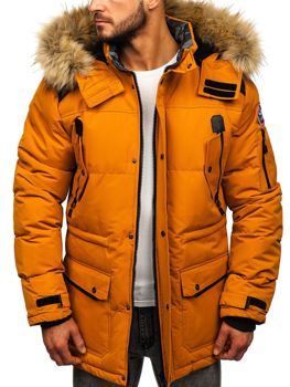 Kamelová pánska zimná bunda Bolf  5948