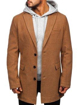 Kamelový pánsky zimný kabát Bolf 1047C
