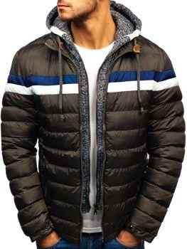 Khaki pánska zimná bunda BOLF A181