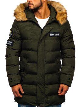Khaki pánska zimná párka Bolf 5972