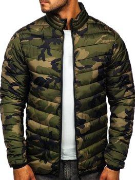 Maskáčovo-zelená pánska zimná bunda BOLF SM32