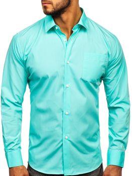 Mätová pánska elegantná košeľa s dlhými rukávmi Bolf 0003