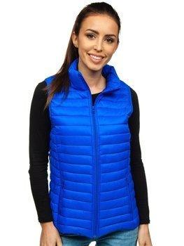 Modrá dámska prešívaná vesta Bolf 20314