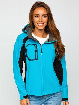 Modrá dámska softshellová prechodná bunda BOLF 9055