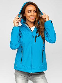 Modrá dámska softshellová prechodná bunda Bolf AB003