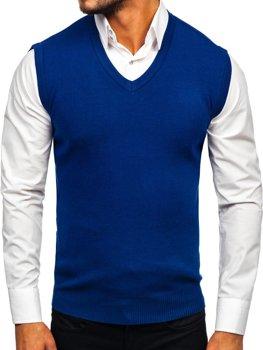 Modrá pánska pletená vesta Bolf H1950