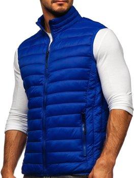 Modrá pánska prešívaná vesta Bolf HDL88001