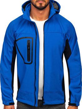 Modrá pánska softshellová bunda BOLF T019