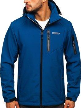 Modrá pánska softshellová bunda Bolf BK067
