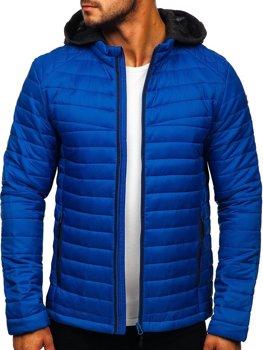 Modrá pánska športová prechodná bunda BOLF AB031