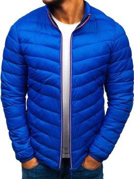 Modrá pánska športová prechodná bunda BOLF LY1015