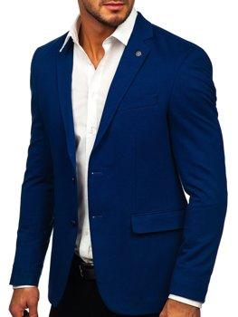 Modré pánske elegantné sako Bolf C191060