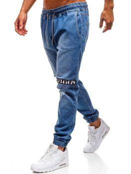 Modré pánske riflové jogger nohavice BOLF 2031