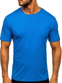 Modré pánske tričko bez potlače Bolf 192132