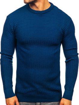 Modrý pánsky sveter Bolf 319