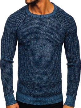 Modrý pánsky sveter Bolf H1932