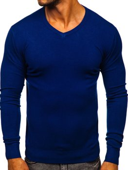 Modrý pánsky sveter s Včkom Bolf YY03