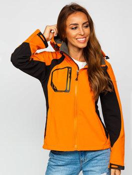Oranžová dámska softshellová prechodná bunda BOLF 39055