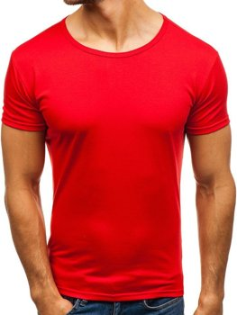 Pánske červené tričko bez potlače Bolf 2006