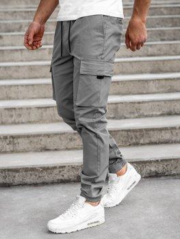 Šedé pánske kapsáčové joggery Bolf 701