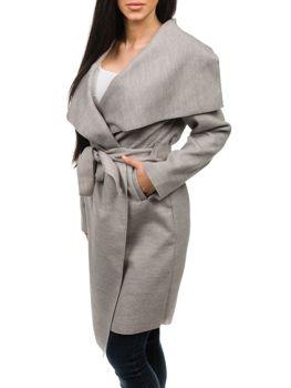 Šedý dámsky kabát Bolf 1729 e38ec42aae