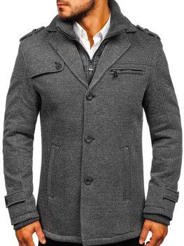 f657f84087b4 Šedý pánsky zimný kabát BOLF 88805