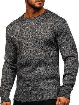 Sivý pánsky zateplený sveter Bolf 7M117
