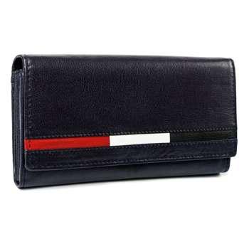 Tmavomodrá dámska kožená peňaženka 7196