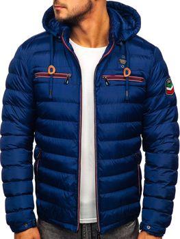 Tmavomodrá pánska športová zimná bunda Bolf 50A172