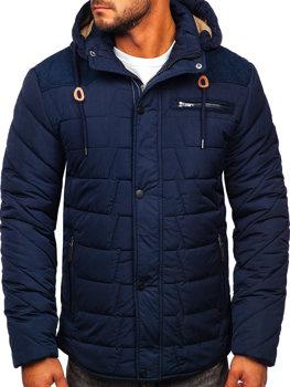 Tmavomodrá pánska zimná bunda BOLF 1673