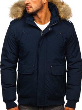 Tmavomodrá pánska zimná bunda BOLF 1770