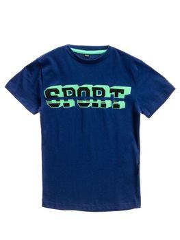 Tmavomodré chlapčenské tričko s potlačou BOLF T3314
