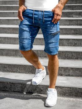 Tmavomodré pánske riflové šortky Bolf KG3600-3