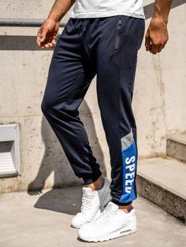 Tmavomodré pánske teplákové joggery Bolf HY717