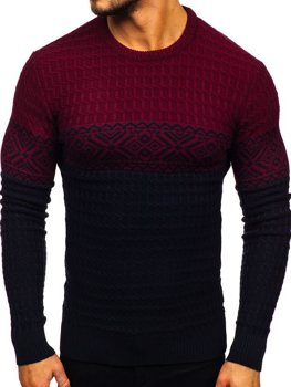 Tmavomodrý pánsky sveter Bolf 309
