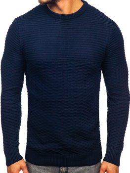Tmavomodrý pánsky sveter Bolf 319