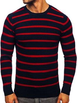 Tmavomodrý pánsky sveter Bolf 4356