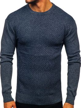 Tmavomodrý pánsky sveter Bolf 8512